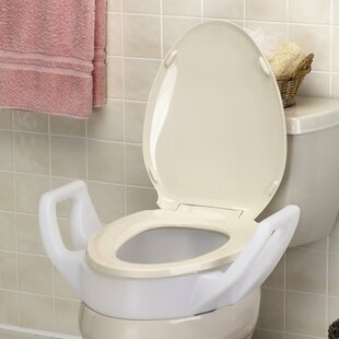 Incredible Elevated Raised Toilet Seat With Arms Standard Bralicious Painted Fabric Chair Ideas Braliciousco