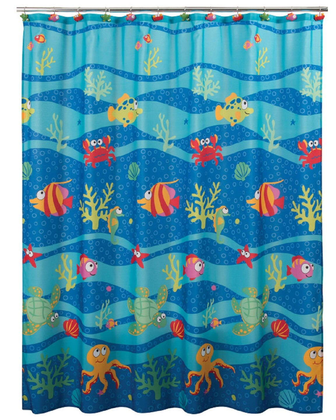 Highland Dunes Pankratz Fish Tails Single Shower Curtain Reviews Wayfair