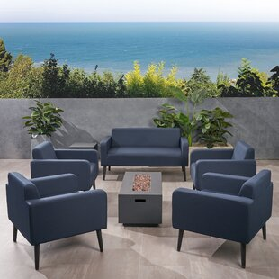 Breckenridge Outdoor 7 Piece Sofa Seating Group With Cushions by Brayden Studio Comparison