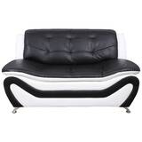 Faustine 2 Tone Faux Leather Loveseat by Orren Ellis