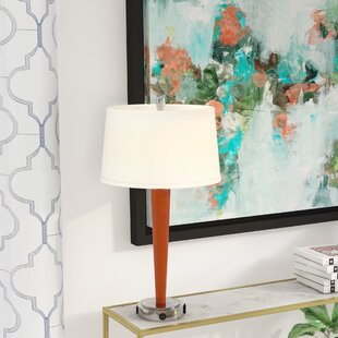 Read Reviews Caspar Tech 27.5 Table Lamp By Mercury Row