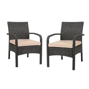 Gracie Oaks Grissett Patio Chair with Cus..