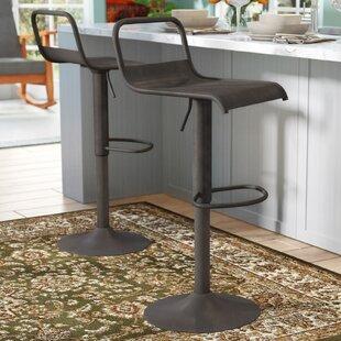 Plattsburg Adjustable Height Swivel Bar Stool by Ebern Designs