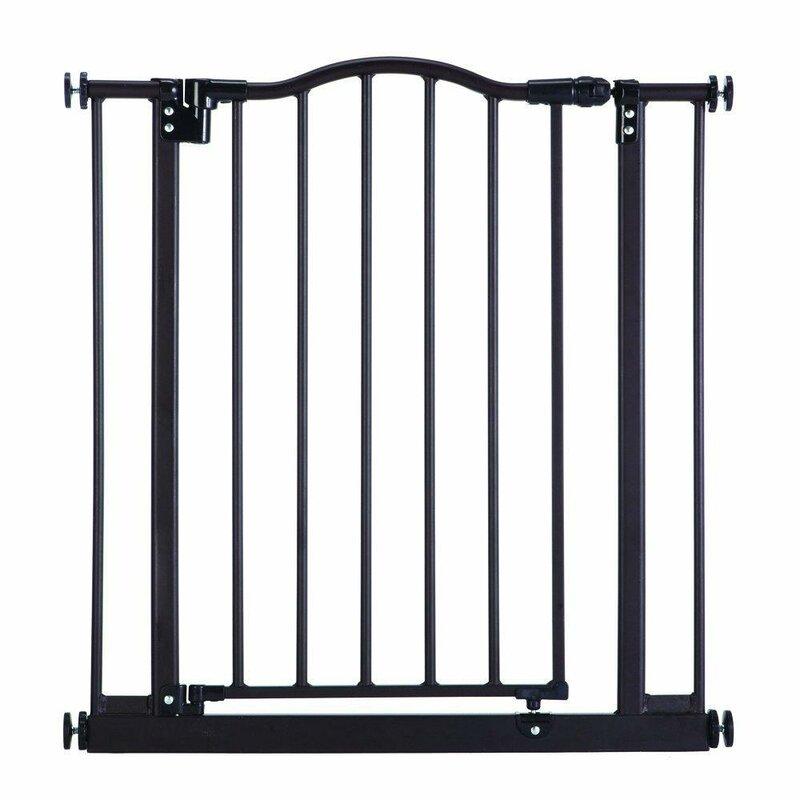 "The multi-directional swing gate with North States 38.5/"" Easy-Close Baby Gate"