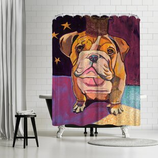 Solveig Studio English Bull Dog Single Shower Curtain