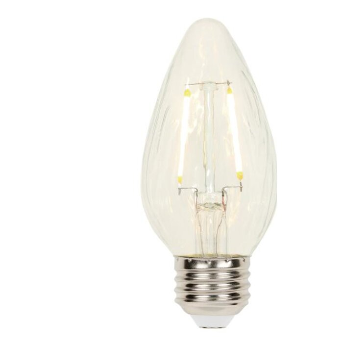 Bulbrite Dimmable 2.5W 2700K Decorative Frosted Filament LED Bulb