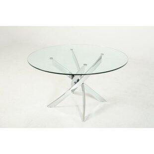 Orren Ellis Clarita Round Glass Top Dinin..