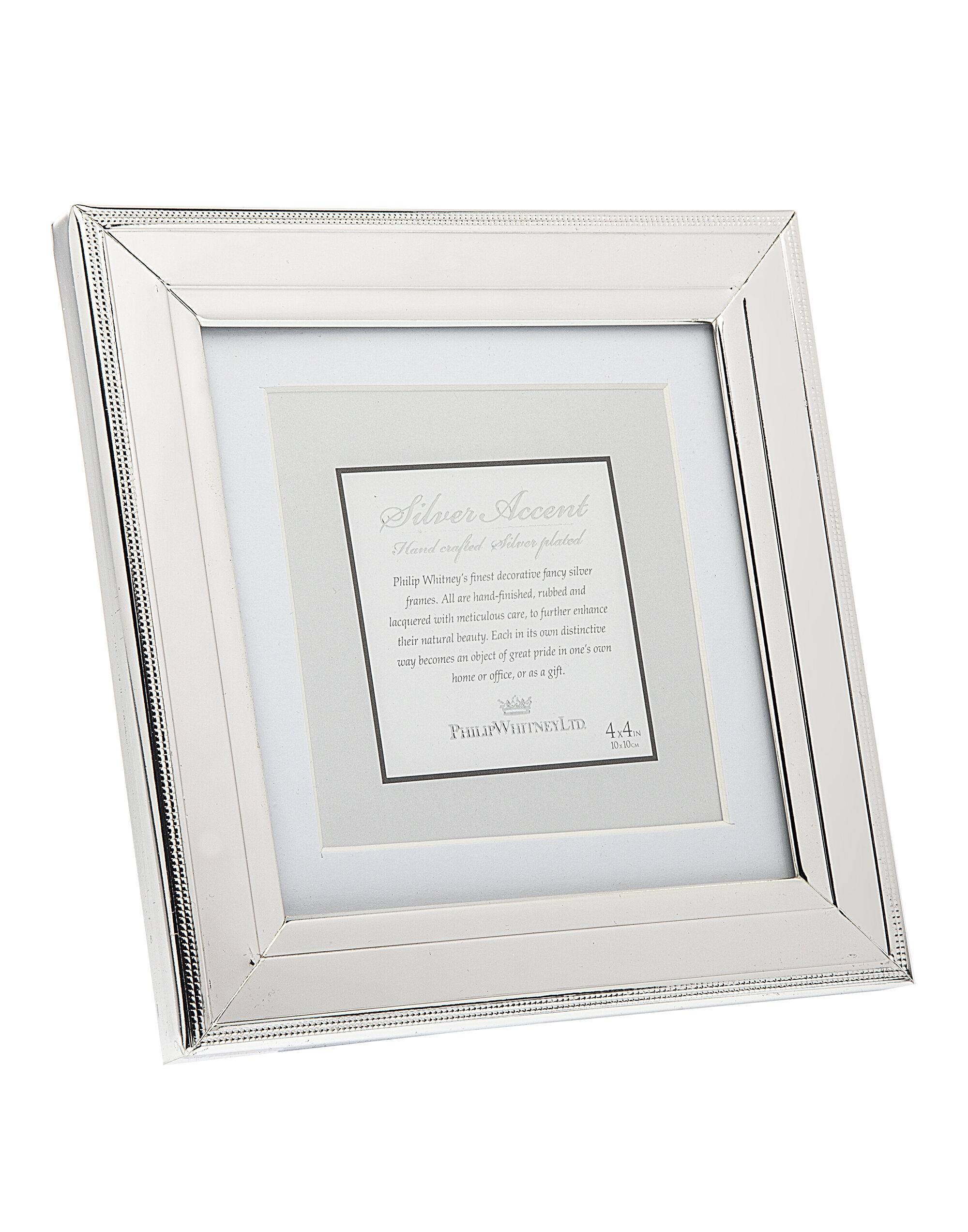 Philip Whitney 5x7 Distressed Black Wooden Beaded Picture Photo Frame Standing Horizontal or Vertical With Moulding
