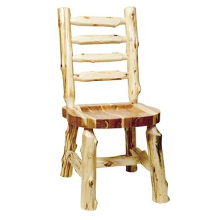 Traditional Cedar Log Solid Wood Dining Chair Fireside Lodge