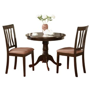 Three Posts Woodward 3 Piece Bistro Set