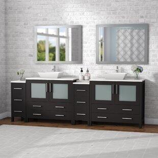 96 inch double vanity wayfair rh wayfair com 96 inch bathroom vanity without top 96 inch bathroom vanity with makeup area