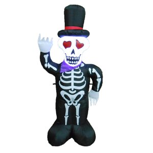 Halloween Inflatable Skeleton with Hat