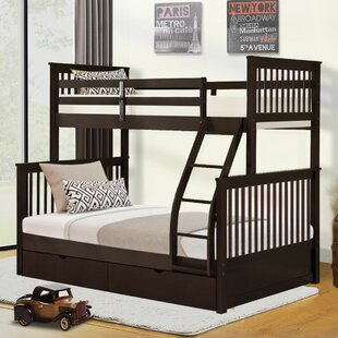 Rizzuto Twin Over Full Bunk Bed with Drawers by Harriet Bee