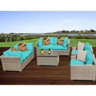 Monterey 7 Piece Sofa Seating Group with Cushions