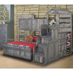 Lille Twin Over Full L Shaped Bunk Beds With Stairway Chest