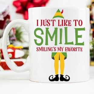 Christmas I Just Like to Smile Smiling's My Favorite 11 oz. Mug