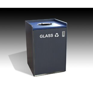 Glass 32 Gallon Recycling Bin by Amcase
