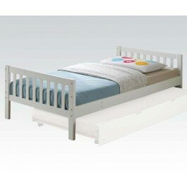 Inexpensive Cardine Mission Twin Slat Bed with Trundle ByMack & Milo