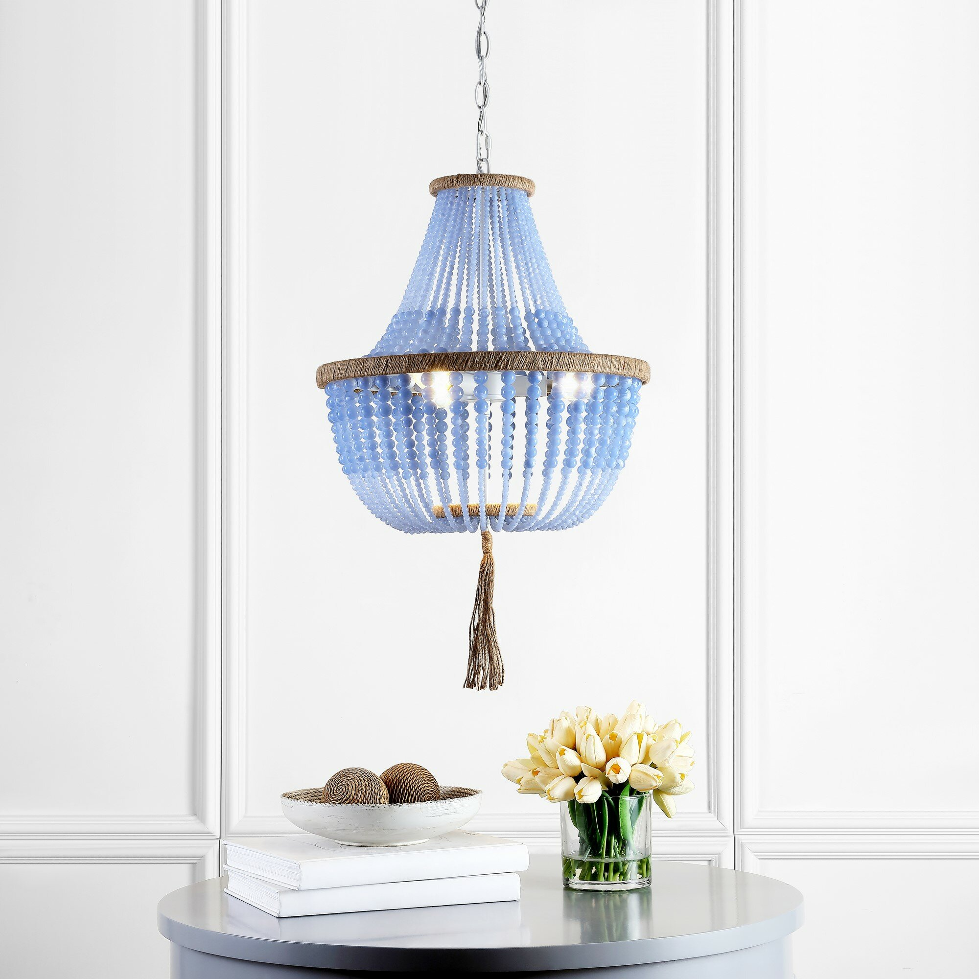 Alta 3 Light Unique Statement Empire Chandelier With Beaded Accents Reviews Joss Main