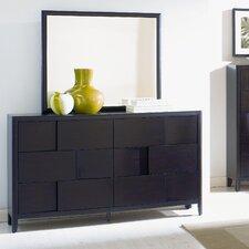 Nova 6 Drawer Dresser with Mirror by Magnussen Furniture