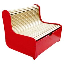Rolling Kids Bench with Storage Compartment