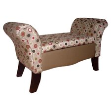 Upholstered Storage Settee by ORE Furniture