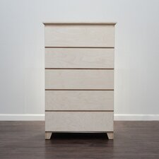 Flat Shaker 5 Drawer Chest by Gothic Furniture