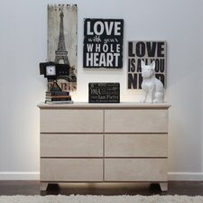 Flat Shaker 6 Drawer Dresser by Gothic Furniture