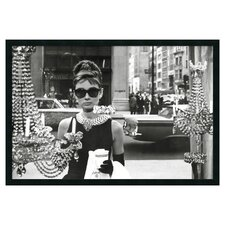 """Audrey Hepburn, Breakfast at Tiffany's (Window)"" Framed Photographic Print"
