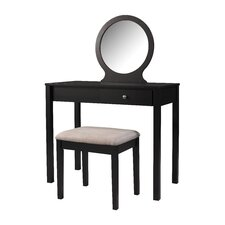 Scarlett Vanity with Mirror by Linon