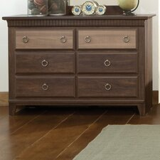 Weatherly 6 Drawer Dresser with Mirror by Standard Furniture