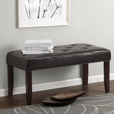 Camdyn Tufted Leather Entryway Bench by Dorel Living