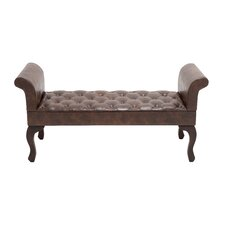 Gorgeous Faux Leather Bench by Woodland Imports