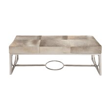 The Simple Stainless Steel Real Leather Entryway Bench by Woodland Imports