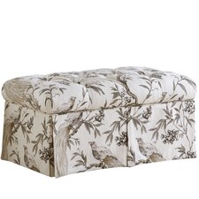 Roberta Upholstered Storage Bedroom Bench by Skyline Furniture