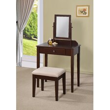 Lilette Vanity Set with Mirror by Williams Import Co.