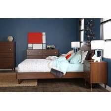 Olly Queen Platform Customizable Bedroom Set by South Shore