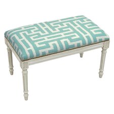 Graphic Upholstered and Wood Bench by 123 Creations