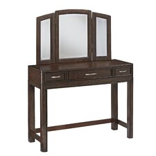 Crescent Hill Vanity with Mirror by Home Styles
