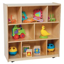 Center 8 Compartment Shelving Unit with Casters