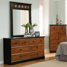 Steelwood 6 Drawer Dresser with Mirror by Standard Furniture