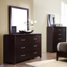 Edina 6 Drawer Dresser with Mirror by Woodhaven Hill