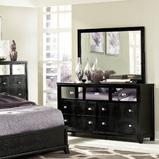 Jacqueline 7 Drawer Dresser with Mirror by Woodhaven Hill