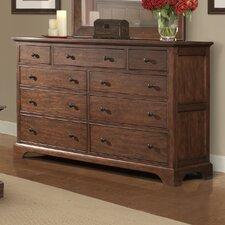 Retreat Cherry 9 Drawer Dresser by Cresent Furniture