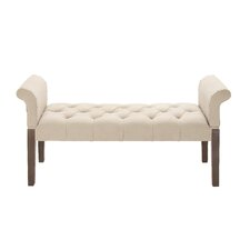 Comfortable and Captivating Upholstered Bedroom Bench by Woodland Imports