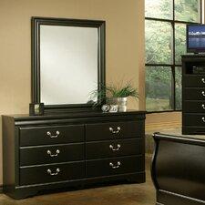 Regency 6 Drawer Dresser with Mirror by Sandberg Furniture