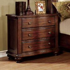 Jamine 3 Drawer Bachelor's Nightstand by Hokku Designs