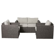 Lion 3 Piece Lounge Seating Group with Cushions by Pangea Home
