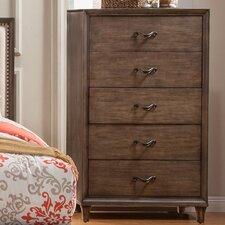 Charleston 5 Drawer Chest by Alpine Furniture