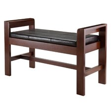 homas Wood Bench with Cushion by Winsome